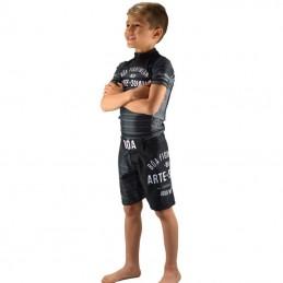 Tenue enfant de NoGi - Jogo no Chão - Noir | pour le sport