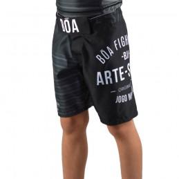Fightshort Child NoGi Jogo No Chão - Black