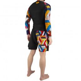 Conjunto de lucha Nogi Capoeira Ginga - Negro   para deportes