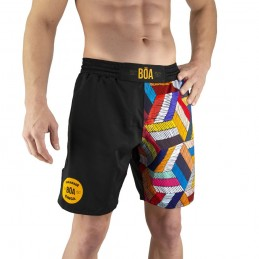 Fightshort Bõa Paranaue Ginga - Black