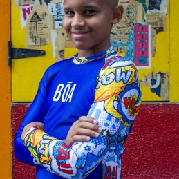 Bõa Kid's Rashguard Bom Vem - Blue