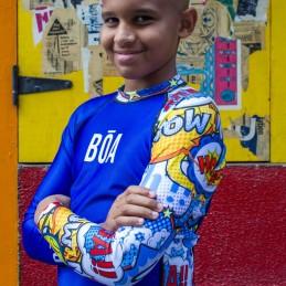 Rashguard Niño Bõa Bom Vem - azul
