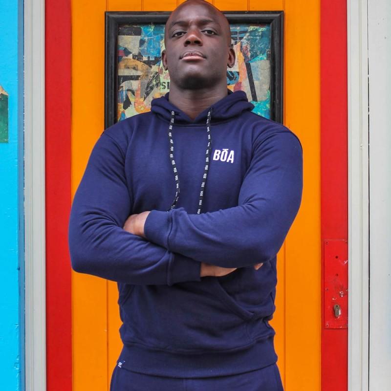 Sudadera con Capucha Bõa Esportes - Azul | ropa de calle