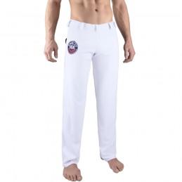 Pantalones de Capoeira Bõa Hombre Arte-Fit - Blanco