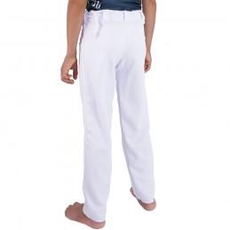 Pantalón Capoeira Fit Niño Arte - Blanco   berimbau