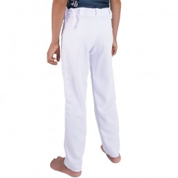 Pantaloni Capoeira Fit Bambino Arte - Bianco | berimbau