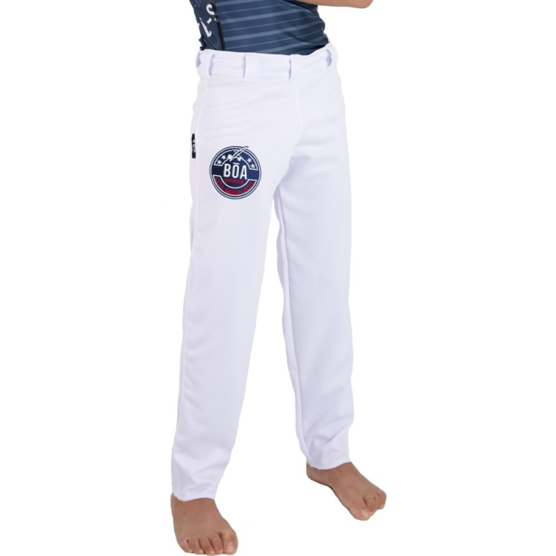 Pantaloni Capoeira Fit Bambino Arte - Bianco   abada