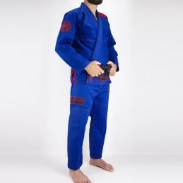 Kimono JJB Homme Pronto para batalha - Bleu | la pratique du jiu-jitsu bresilien
