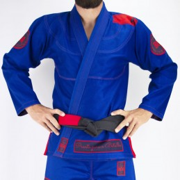 Мужское бжж-кимоно Pronto para batalha - синий | для булав на татами