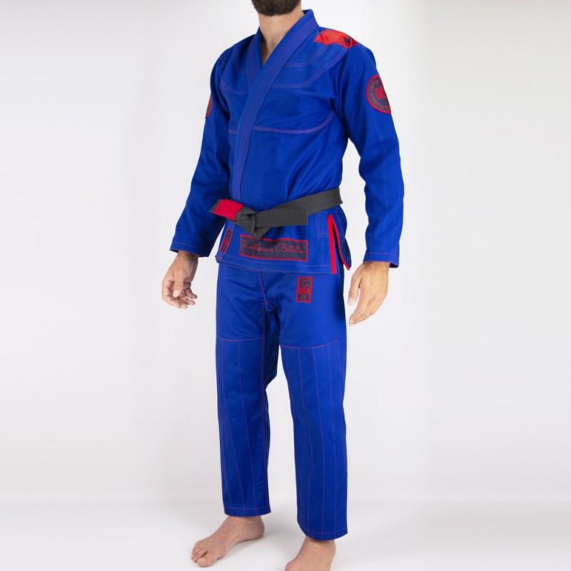 Мужское бжж-кимоно Pronto para batalha - синий | Боевые искусства