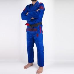 Мужское бжж-кимоно Pronto para batalha - синий | боевые виды спорта