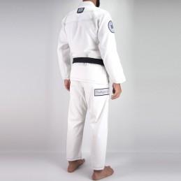 Bjj Kimono para Homem Pronto para batalha - Branco   um kimono para clubes de jiu-jitsu brasileiro