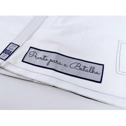 Bjj Kimono para Homem Pronto para batalha - Branco   ideal para combate