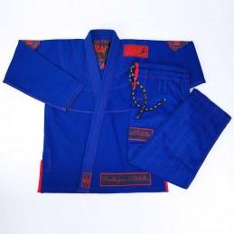 Мужское бжж-кимоно Pronto para batalha - синий | для соревнований