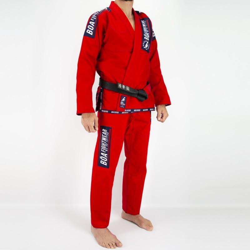 Bjj Kimono da Uomo MA-8R - Rosso | Arti marziali