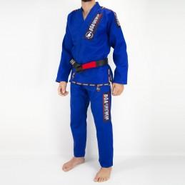 Мужское бжж-кимоно MA-8R - синее   практика бразильского джиу-джитсу