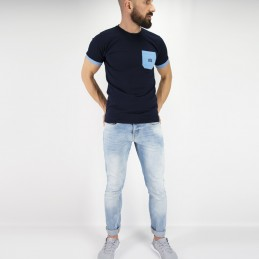 Футболка мужская Tudo bem - синяя | Удав