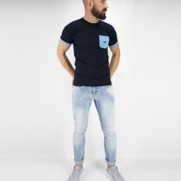 Camiseta de hombre tudo bem azul | tendencia