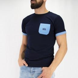Футболка мужская Tudo bem - синяя | уличная одежда
