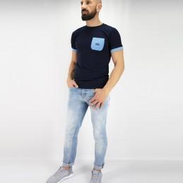 Футболка мужская Tudo bem - синяя | спортивный вид