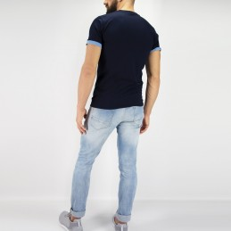 T-shirt Homme Tudo bem - Bleu | look sport