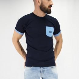 Tudo bem Herren T-Shirt - Blau Streetwear