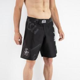 Shorts de luta homem - Arte Suave treinando em tatames