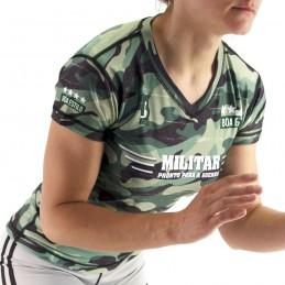 Rashguard mujer sport Nogi - Militar en competición