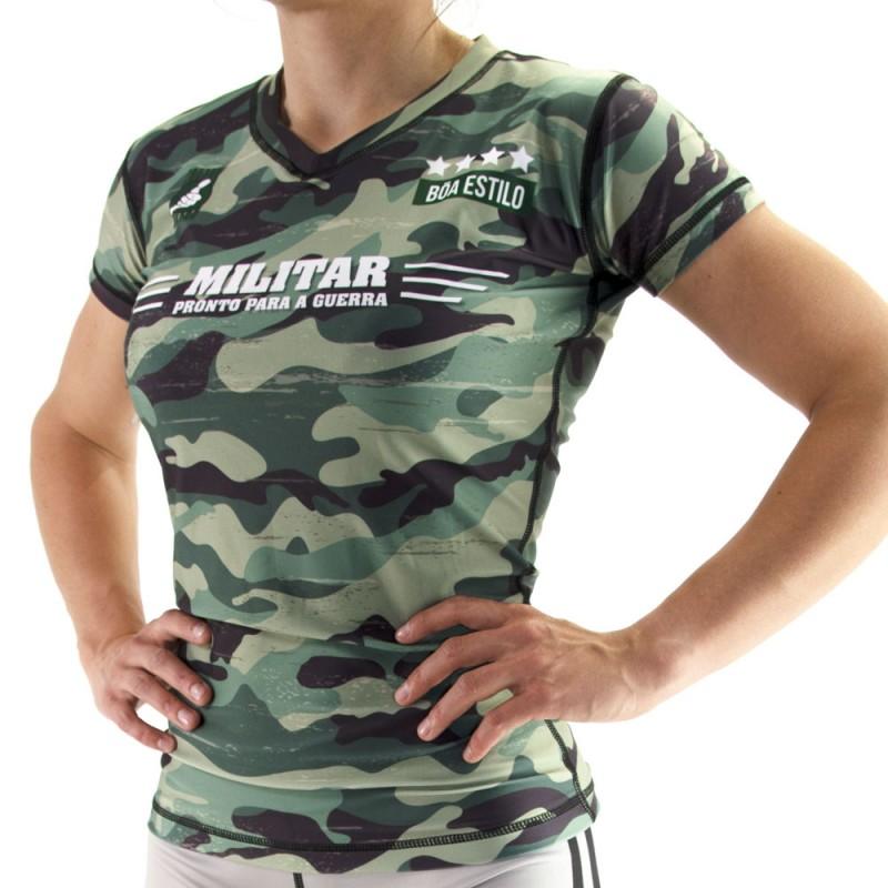 Rashguard mujer sport Nogi - Militar Camiseta de compresión