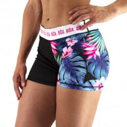 Shorts de compressão para mulheres para esportes de combate | Bōa