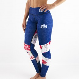 Legging fun femme de Grappling-Nogi look floral | Bōa Fightwear