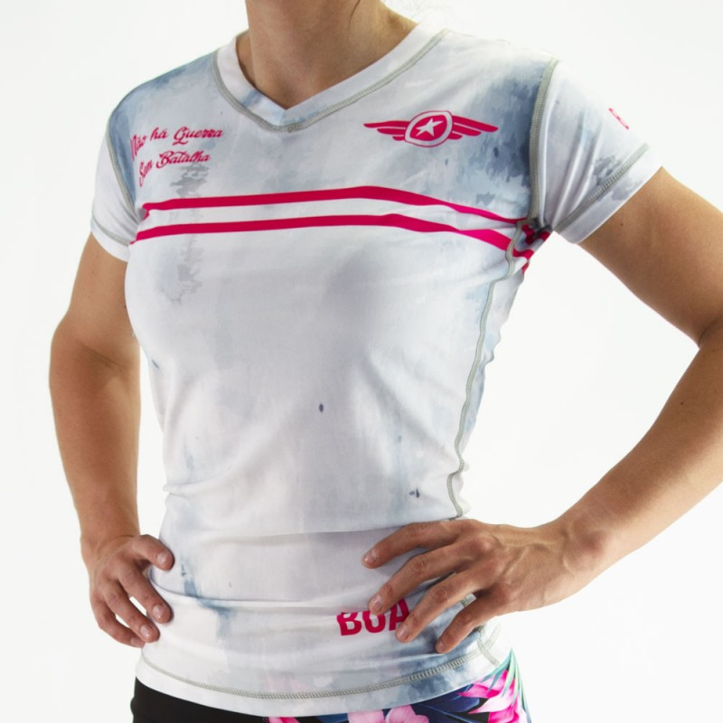 Rashguard femme de Nogi - Batalha Blanc T-shirt de compression