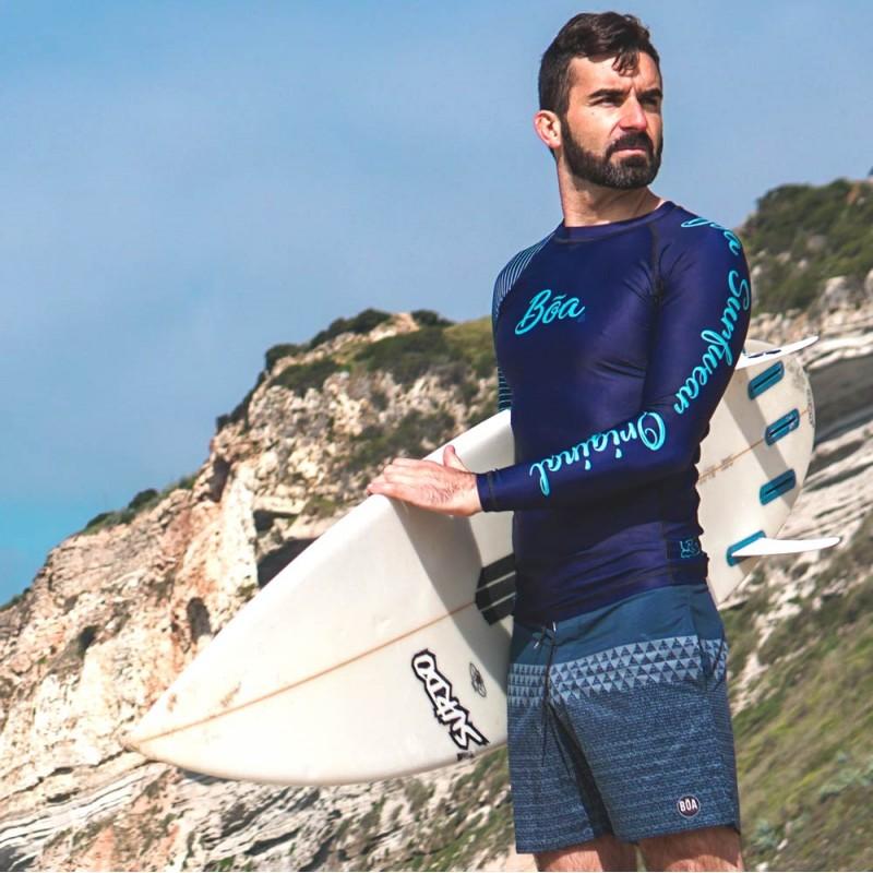 Rashguard para hombre Tirando inspirado en el surf