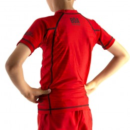 Rashguard Kinder Mata Leão - Rot für Sport