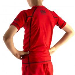 Rashguard bambino di Nogi Mata Leão - Red per lo sport