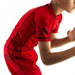 Rashguard niño de Nogi Mata Leão - Rojo para deporte de combate