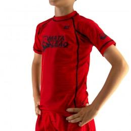 Rashguard niño de Nogi Mata Leão - Rojo Boa