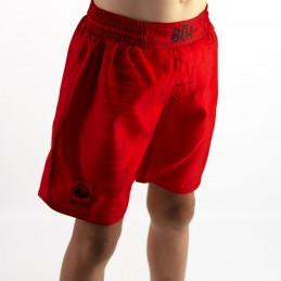 Short Nogi niño Mata Leão - Rojo para deporte de combate