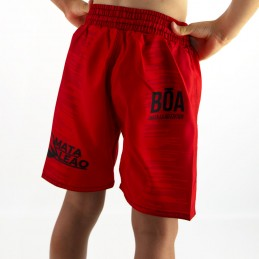 Fight short child Mata Leão - Red Boa