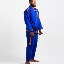Мужское бжж-кимоно MA-8R - синее   Боевые искусства