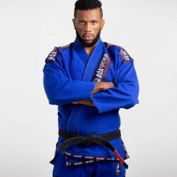 Мужское бжж-кимоно MA-8R - синее   боевые виды спорта