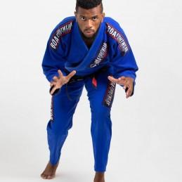Мужское бжж-кимоно MA-8R - синее | для булав на татами