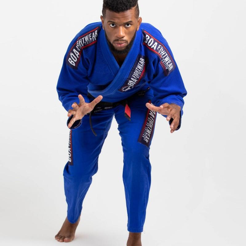 Мужское бжж-кимоно MA-8R - синее   для булав на татами